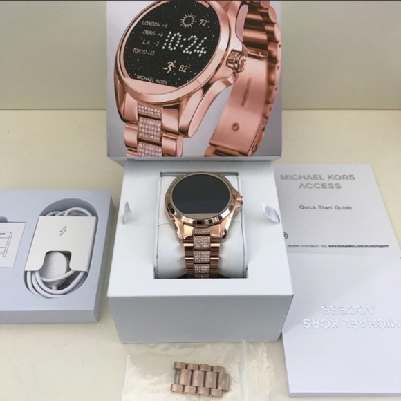 08cafb83fb17 Michael Kors Rose Gold Bradshaw Access Smartwatch